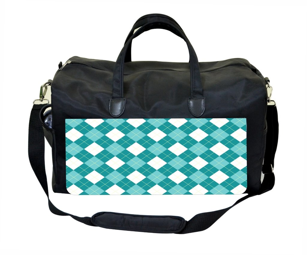 Blue and White Argyle Pattern Therapist Bag