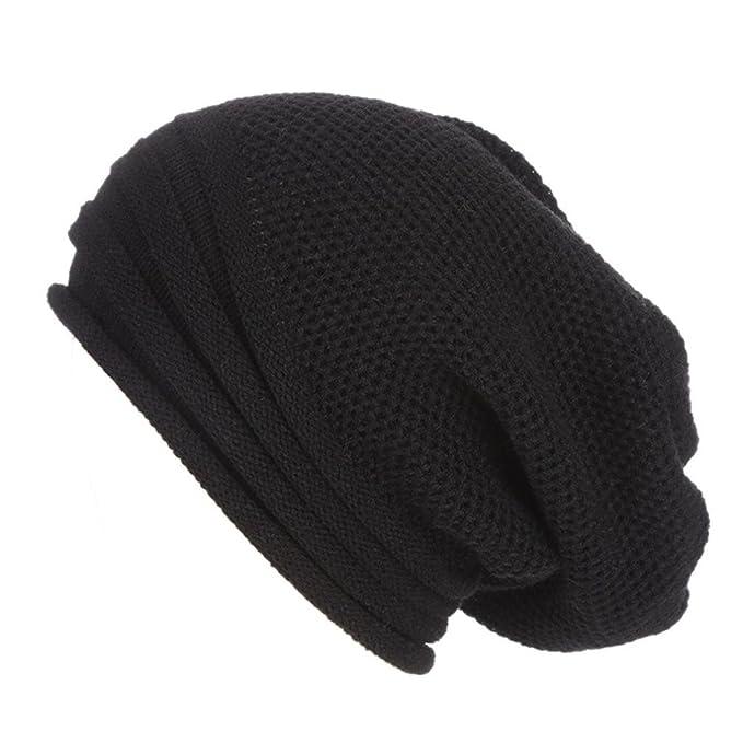 Odejoy Cappello Inverno Berretto in Maglia Cappelli Eleganti per Uomo e  Donna Moda Cappello Con Cappello f841877d7d2c