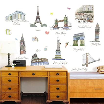 Imagen arquitectónica de fama mundial Pegatinas de pared ...