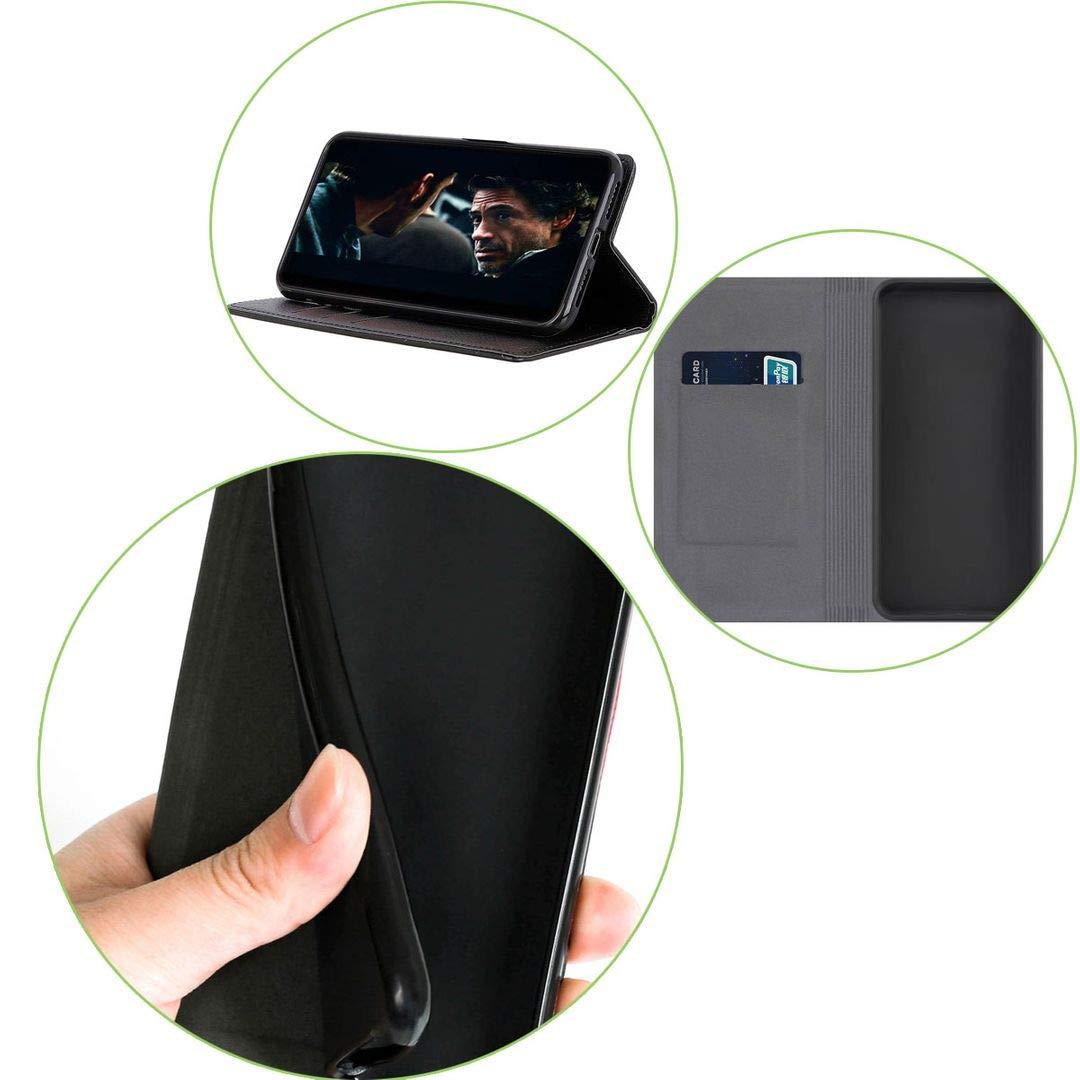 Wallet Purse with Vetro Pellicola Vetro Temperato per UMIDIGI S3 PRO,Protettiva in Pelle Custodia Bookstyle Flip Case Cover Shell Portafoglio QFSM Blu Skin Custodia