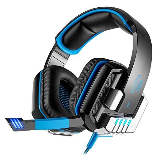 18 opinioni per ACEPHA G8000 Cuffia Gaming USB con Microfono, Audio Surround 7.1, Vibrazione,