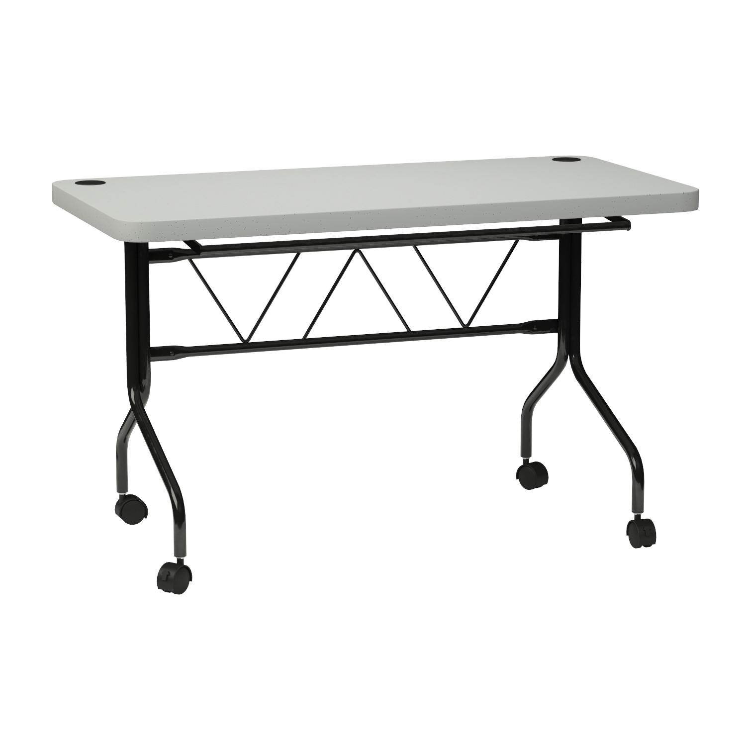 Amazon.com: Office Star Resin Multi Purpose Flip Table With Locking Casters,  4 Feet Long: Kitchen U0026 Dining