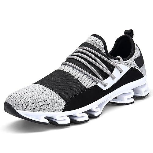 Zapatillas Running Hombre Deporte Zapatos para Correr Calzado Verano Sneakers Gris Negro Rojo 39-46: Amazon.es: Zapatos y complementos