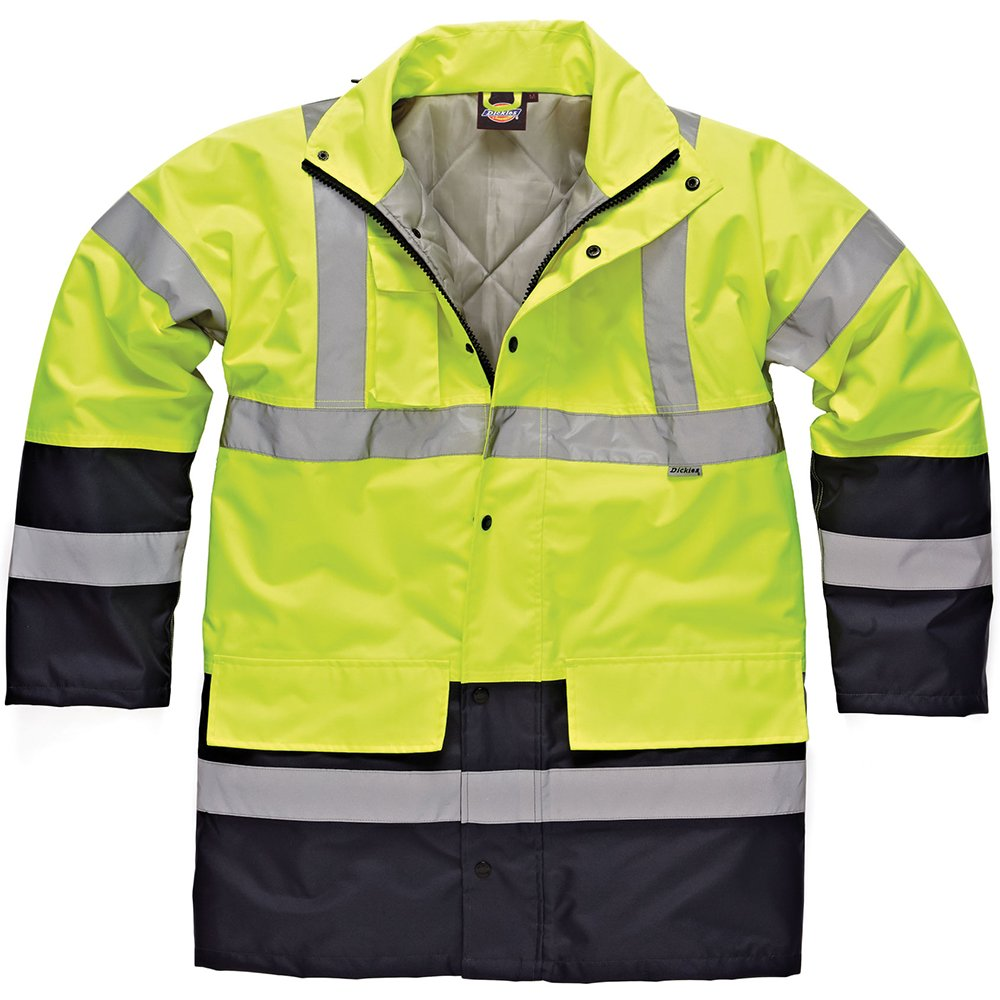 TALLA Medium. Dickies SA7004 Abrigo de trabajo, Jaune/Marine), Medium