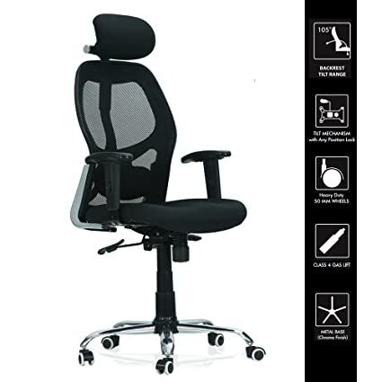Green Soul® Newyork High Back Fully Functional Executive Office Chair (Black)  (+