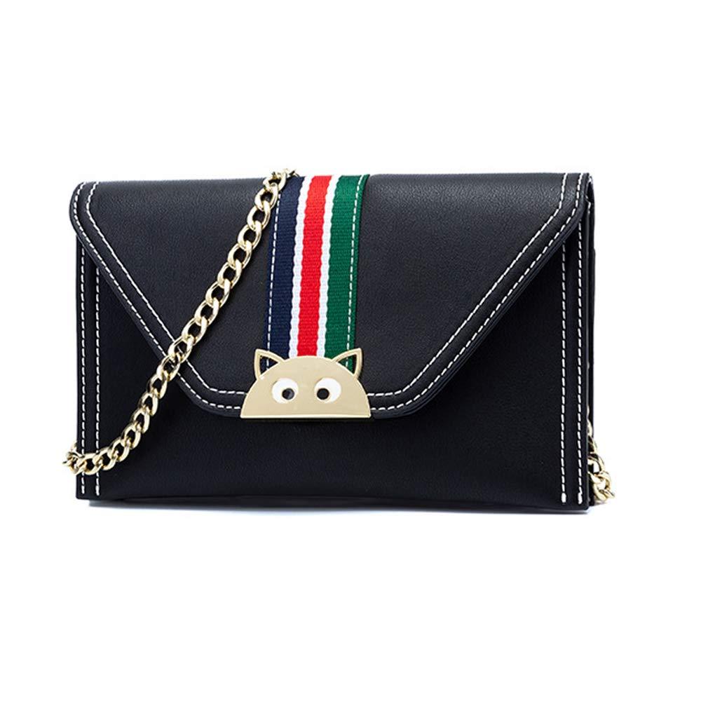 Color : Black Amyannie Casual Summer Contrast Envelope Bag Shoulder Messenger Bag