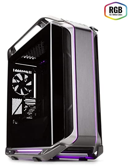 98d48c7568c Amazon.com: Cooler Master Cosmos C700M with ARGB Lighting, Aluminum Panels,  a Riser Cable, and Curved Tempered Glass, C700M Full Tower: Computers & ...