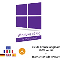 Windows 10 Pro Workstation 32 Bits & 64 Bits - Clé de Licence Originale par Postale et E-Mail + Instructions de TPFNet® - Livraison Maximum 60min