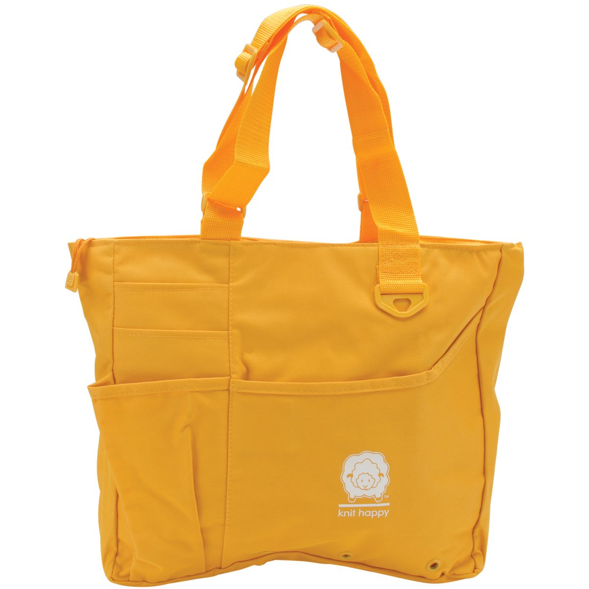 K1C2 Knit Happy Bright Bag, 15 by 13 by 4-Inch, Yellow
