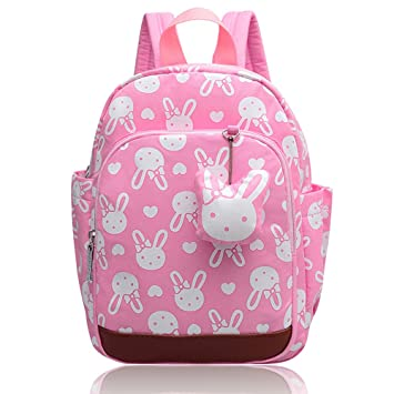 a3d507e7a9 Amazon.com  Vox Small Backpack for Kids Baby Girls with Safety ...