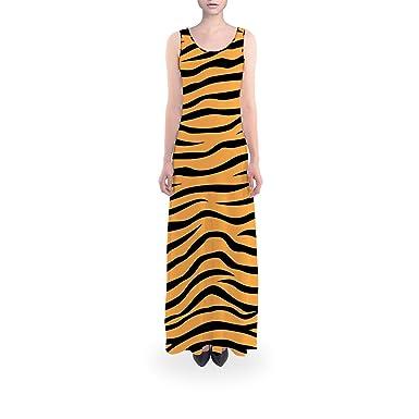 8b2638819f Queen of Cases Zebra Print Orange - M Short - Flared Maxi Dress at ...