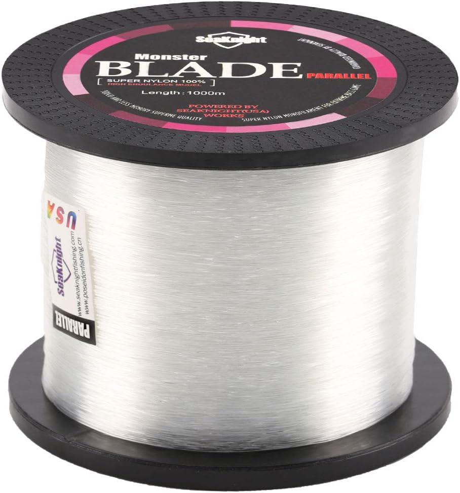 SeaKnight Blade Monofilament Carp Fishing Line 1000m//1094yds Japan Material Nylon Sea Fishing Line Mono 2-35LB