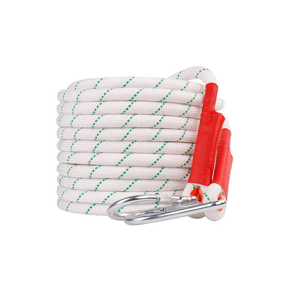 登山ロープ、直径20ミリメートル屋外安全ロープ耐摩耗航空工事ロープレスキューロープダウンヒルクリーニングロープ2枚付きカラビナ (色 : 20MM, サイズ : 80cm) 80cm 20MM B07K5C9JN6