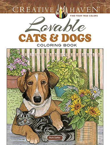 Halloween Cat Coloring Pages To Print (Creative Haven Lovable Cats and Dogs Coloring Book (Creative Haven Coloring)