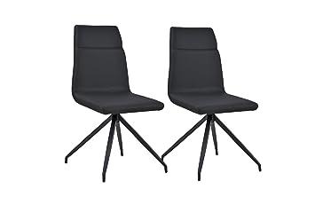 B.H.D Tali - Set de 2 sillas Modernas - Piel sintética - Colores ...
