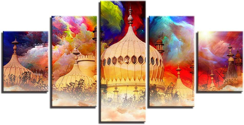 Amazon.com: CYKEJISD Wall Decoration Painting Castle Color Cloud ...