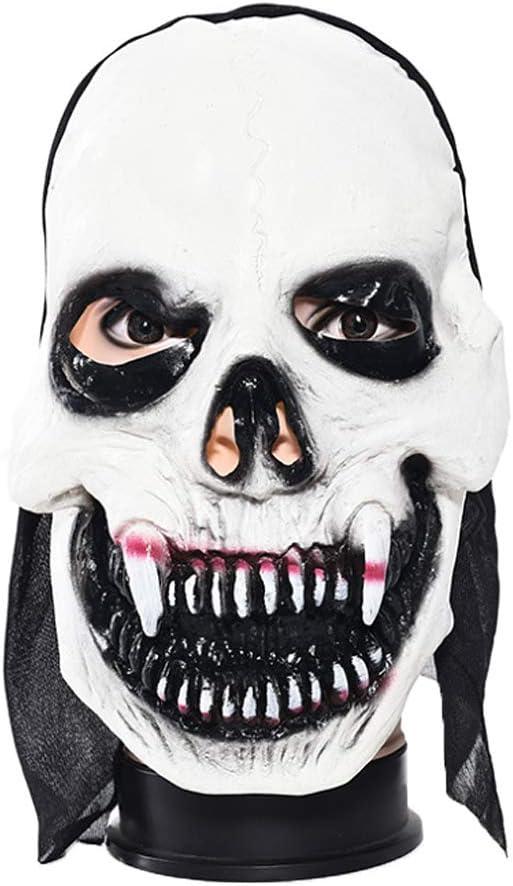 JENOR - Máscara de Halloween para Disfraz de Calavera Diabla ...