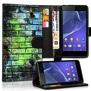 Wallet Wicostar–Funda Case Funda Carcasa diseño Funda para Samsung Galaxy S4VE i9515–Diseño Flip mvd67