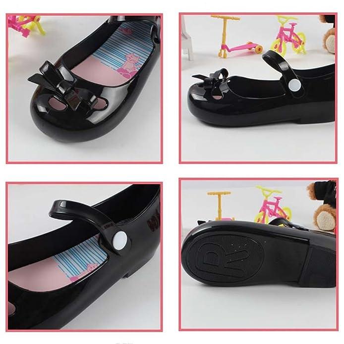 Amazon.com: iFans las niñas princesa lazo de Jelly Zapatos ...