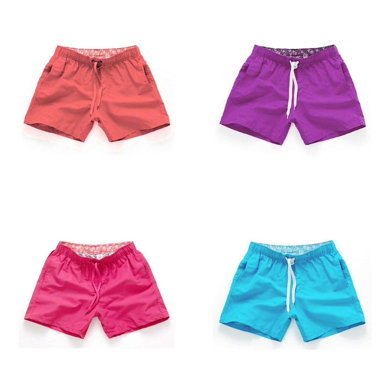 haode Pocket Quick Dry Swimming Shorts for Men Swimwear Man Swimsuit Swim Trunks Summer Bathing Beach Wear Surf Boxer Brie Sky Blue XL