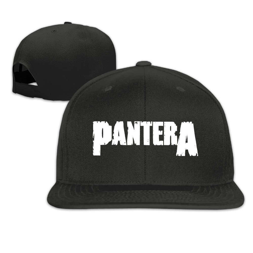 Pantera Band Unisex Adjustable Flat Visor Hat Baseball Cap Black