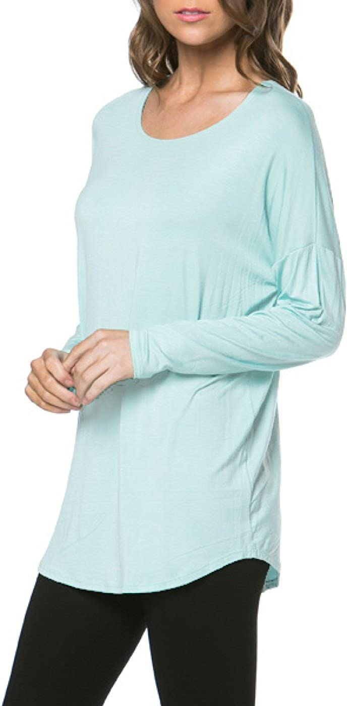 2LUV Womens Trendy Knit Long Sleeve Tunic Top