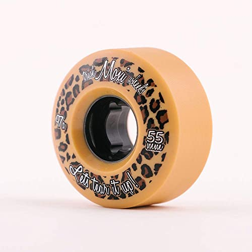 Moxi Skates – Trick Wheels – Roller Skate Wheels – 4 Pack of 55m 97A Wheels Leopard