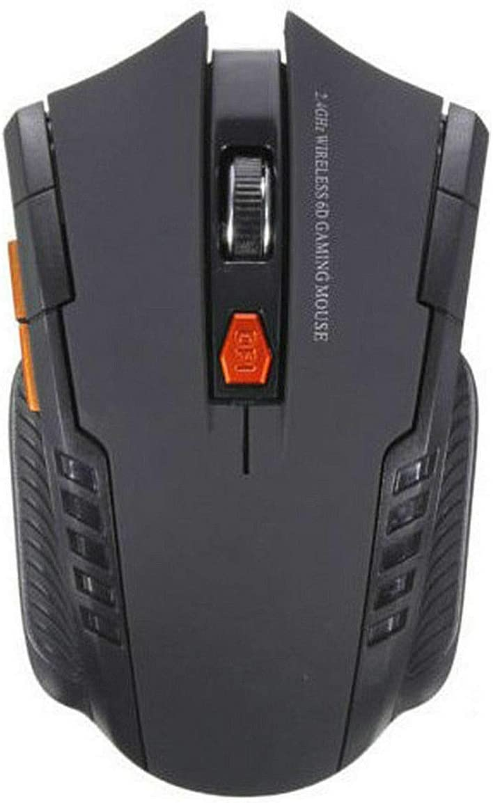 RONSHIN Electronics 2.4Ghz Mini Wireless Optical Gaming Mouse /& USB Receiver for PC Laptop Black