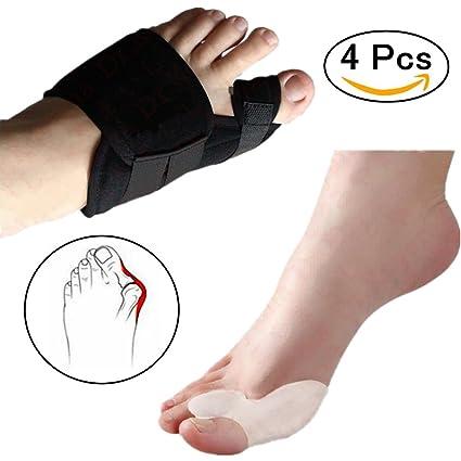 2 pares de dedos de dedo del pie correctora de vendaje ortopédicos + corrector de juanetes ...