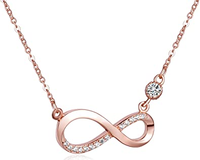 Infinite U Fashion Infinity Symbol 925 Sterling Silver Cubic