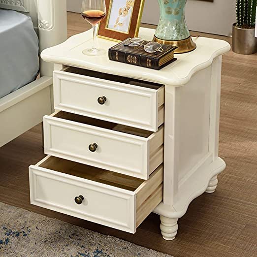 Amazon Com Admir Vintage Sofa Side End Table Storage Organizer Bedroom Farmhouse Nightstand 3 Drawers Small Wood Bedside Table Cabinet