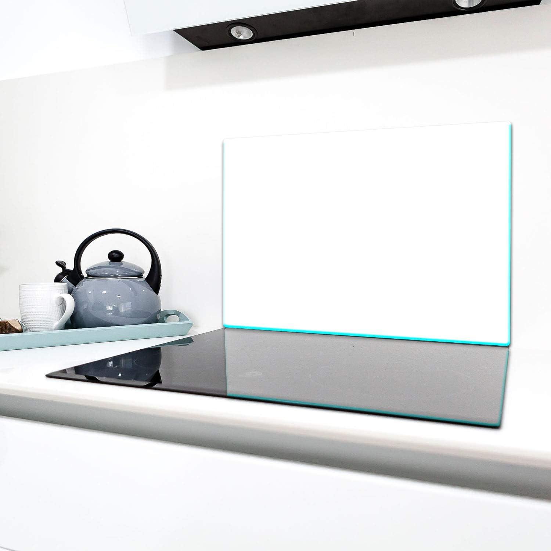 Ceranfeldabdeckung Induktion Herdschutz Glasplatte Deko Schneidebrett TMK Herdabdeckplatte 80x52 cm 1-teilig Spritzschutz Glas Opti-White glas wei/ß