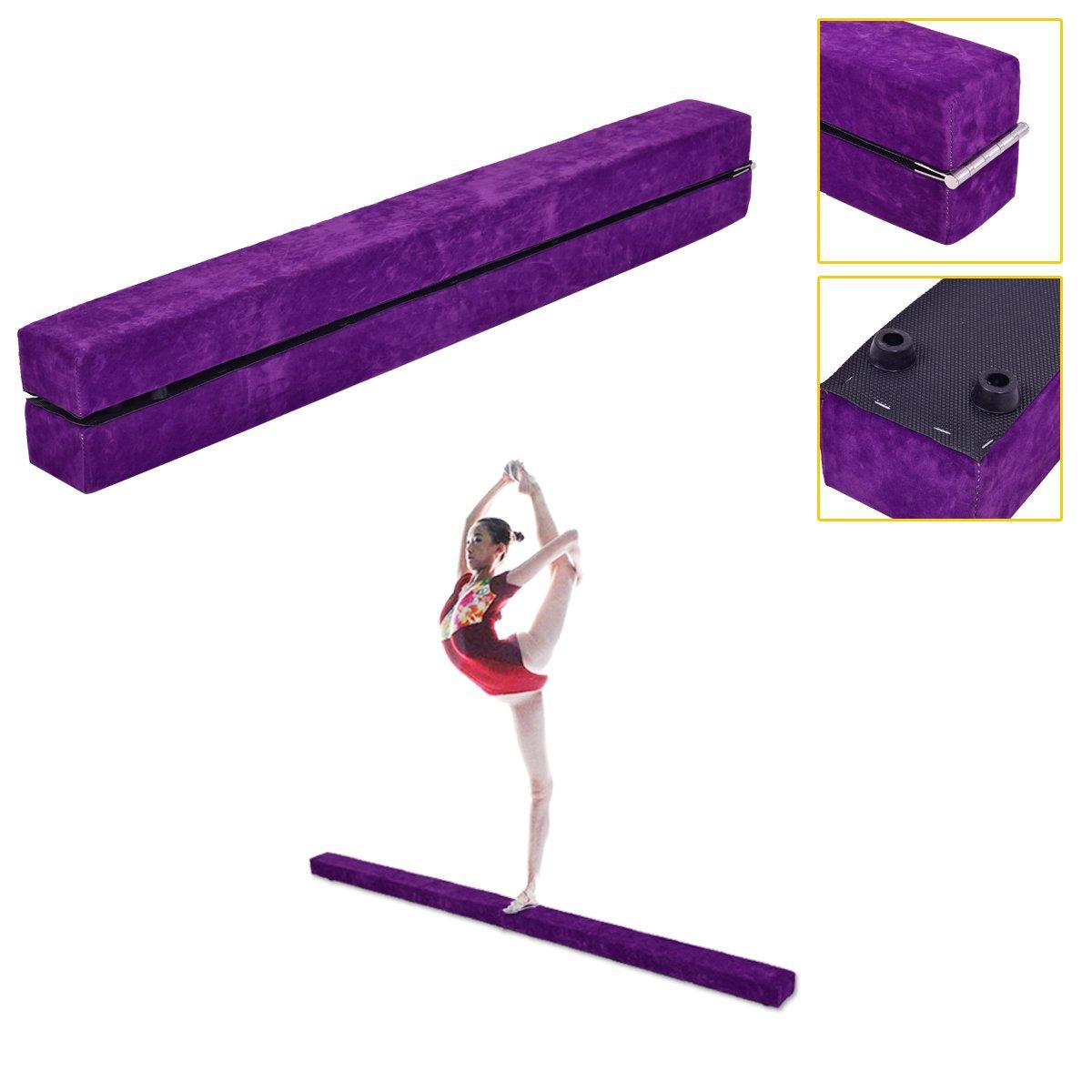 2, 1 m Poutre d'équilibre pliable Gymnastique sectionnelle Compétence Performance Entraînement Blitzzauber24