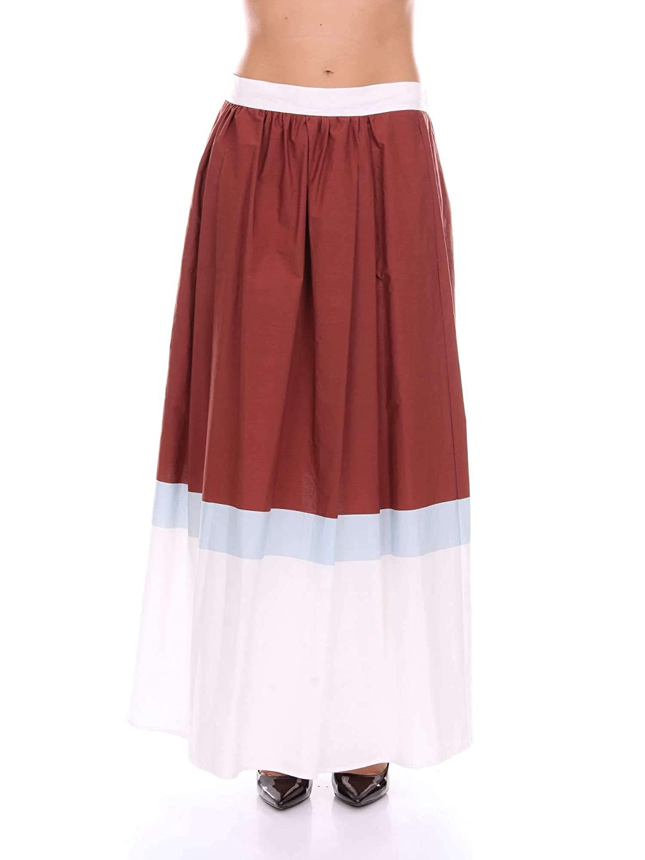 Manila Grace P8SN627CSBURGUNDY - Falda de algodón para Mujer ...