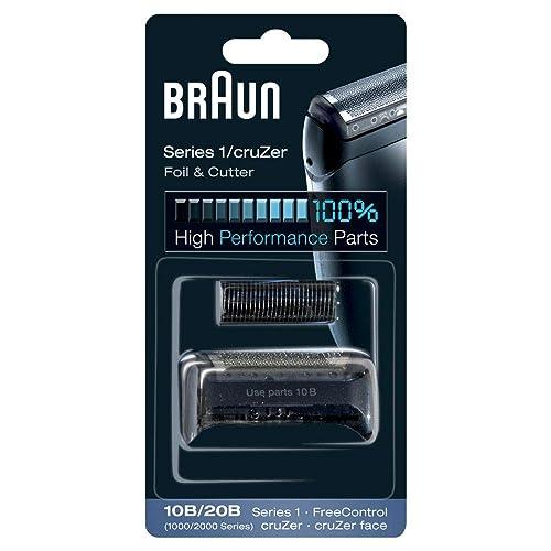 Braun Pièce de Rechange 10B/20B Noire pour Rasoir Compatible avec les Rasoirs CruZer et Series 1