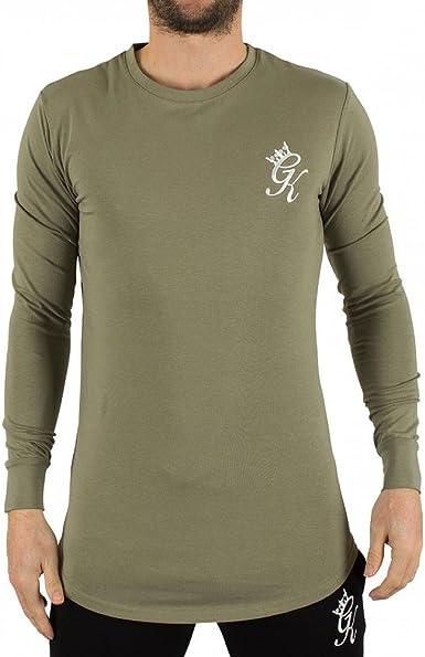 Gym King - Camiseta de manga larga - para hombre verde caqui ...