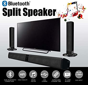 Altavoz Bluetooth Soundbar 2 en 1 TV Smart TV Spilt aux TF Card bs-36: Amazon.es: Electrónica