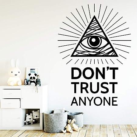zxddzl DIY Trust Cita Impermeable Pegatinas de Pared Arte de la ...