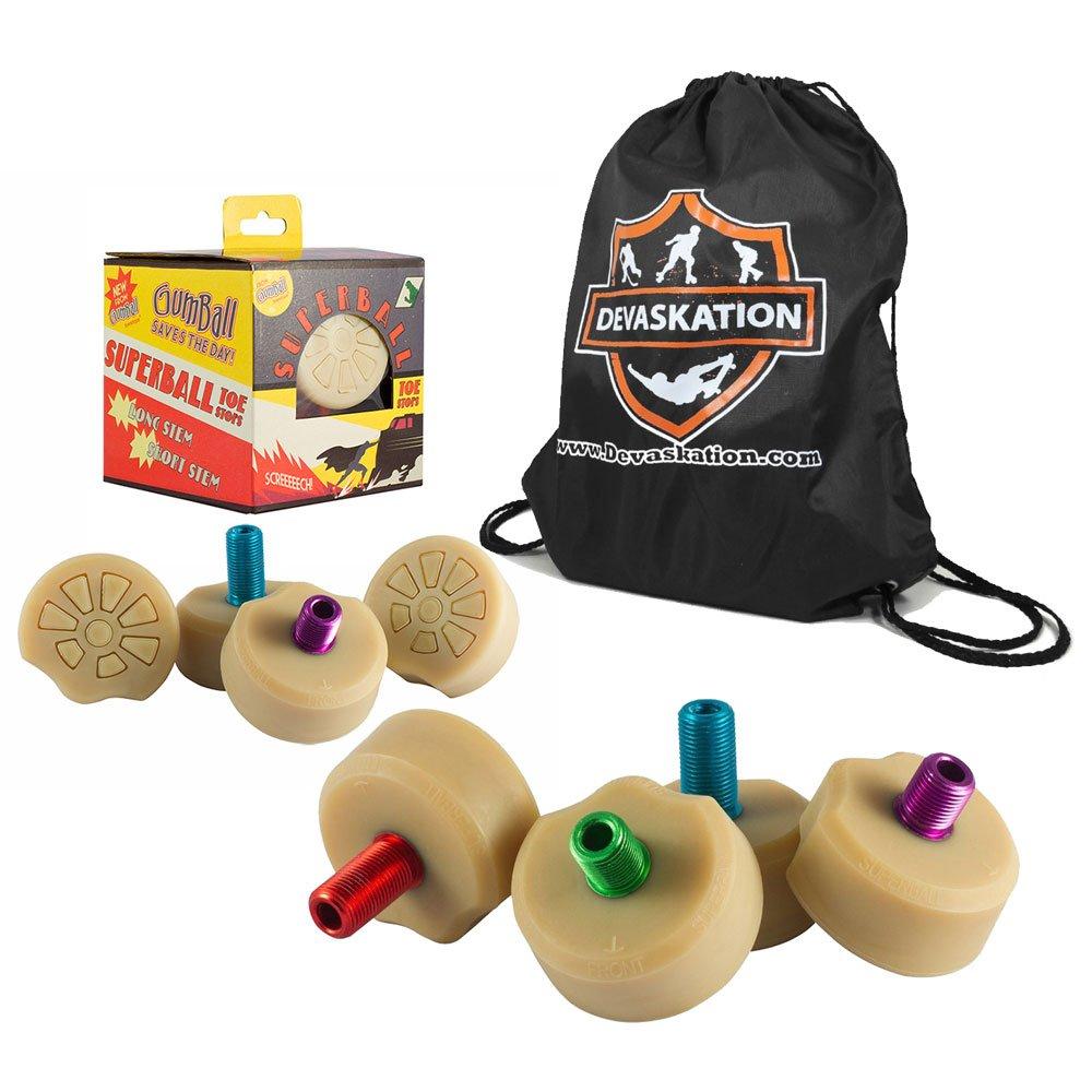 Gumball Superball Stops by Grn Monster w/Bonus Devaskation Tool Bag (LongStem 30mm) by Grn Monster