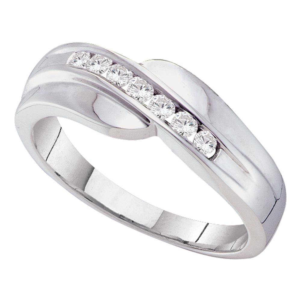 14kt White Gold Mens Round Channelset Diamond Curved Wedding Band Ring 14 Cttw Amazon: White Gold Diamond Curved Wedding Bands At Reisefeber.org