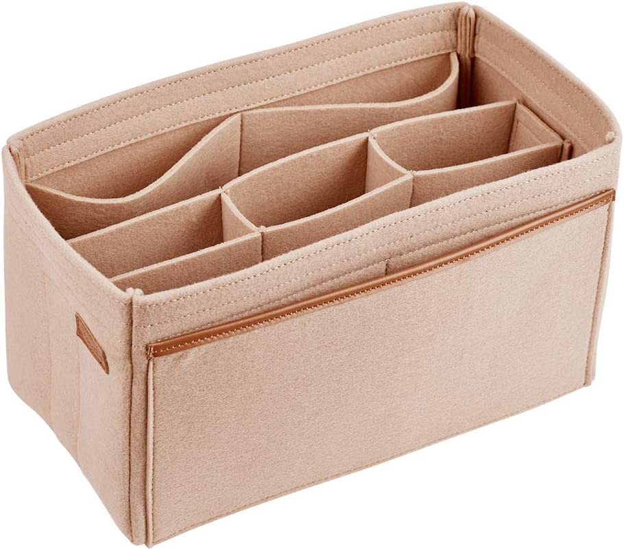 CtopoGo Organizador de Bolso Bag Organizer Bag Organizador de Mujer Bag In Bagcon Bolsa dedesmontable Bolsa en Bolsa Inserto de Bolso Organizador Bolso (Beige, Large): Amazon.es: Equipaje
