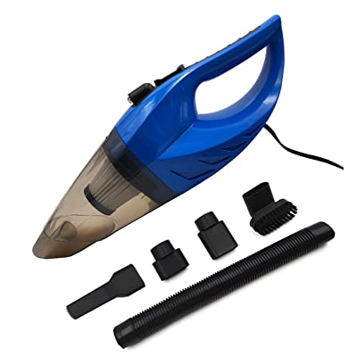 CYCLENPO Car Handheld Vacuum Cleaner(120W) Wet& Dry Strong Suction Portable Dust Cleaner Buster with Cigarette Lighter Plug 16.4ft Power Cord (Blue): Home Improvement