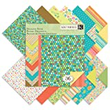 Summer Travel Double-Sided Designer Paper Pad 12-inch by12-Inch-36 Sheets