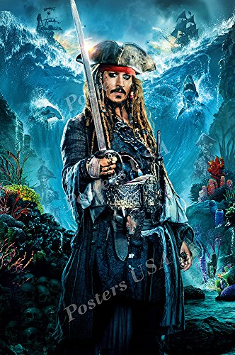 Posters USA Pirates of the Carribean Jack Sparrow Textless Dead Men Tell No tales Movie Poster GLOSSY FINISH - FIL672 (16