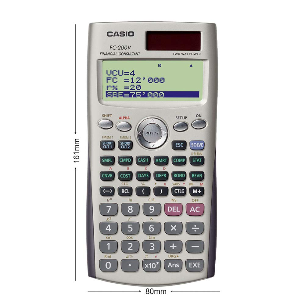 Casio FC-200V Financial Calculator for sale online
