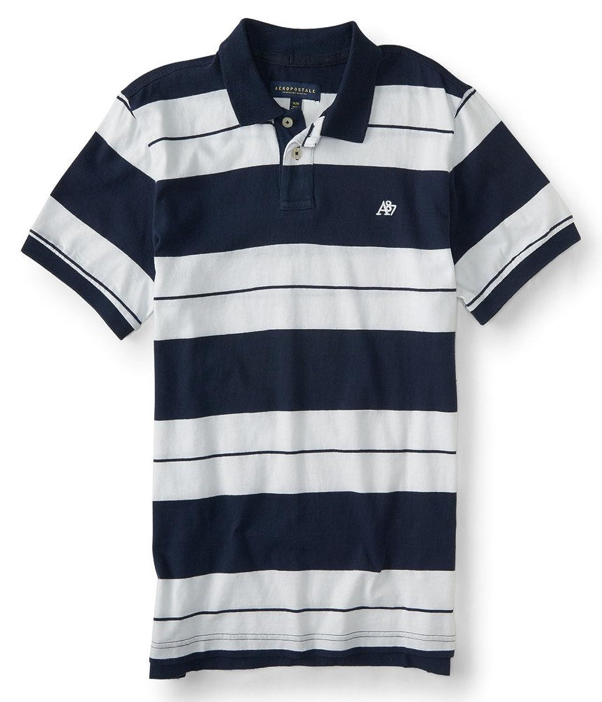 US Polo Assn Men's Balanced Stripe Pique Polo Shirt