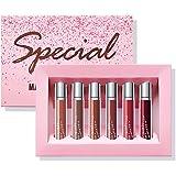 LANGMANNI Matte Liquid Lipstick Set, Lip Gloss Durable Nude Long-Lasting Non-Stick Cup Not Fade High Pigmented Velvet…