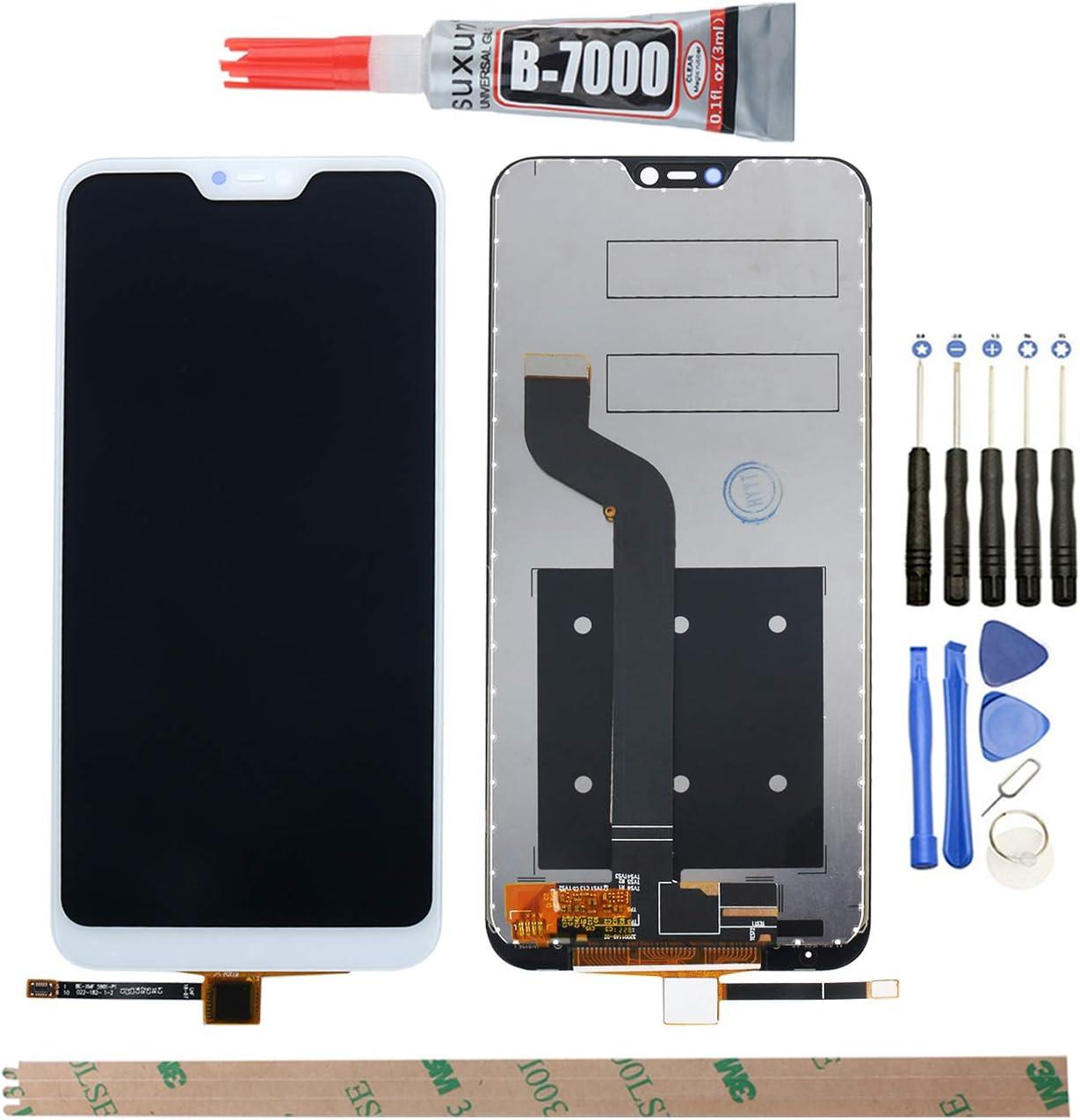 YHX-O para Xiaomi Mi A2 Lite de 5,84 Pulgadas de reparación y sustitución LCD Display + Touch Screen Digitizer con Herramientas Incluidas Redmi 6 Pro LCD