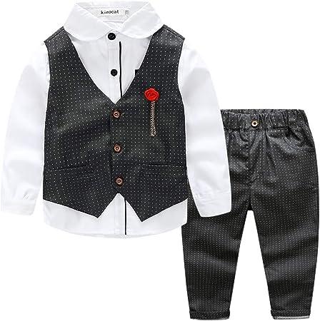 Este traje de niños está hecho de tela de algodón de alta calidad, es transpirable y piel-simpática,