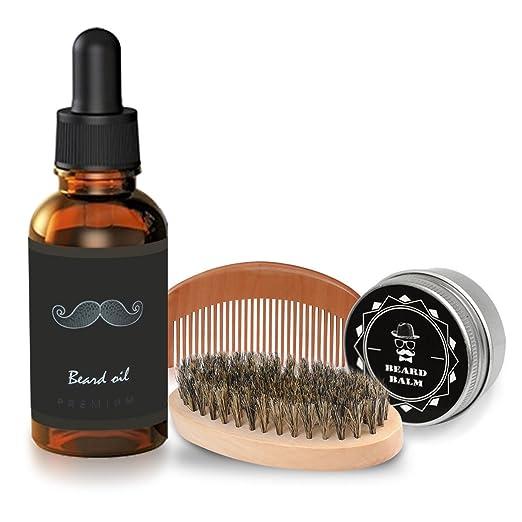 33 opinioni per Olio da Barba kit 4 pz Breett Olio Cura Barba (vitamin E oil, aloe oil)barba Oil
